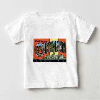 シャイエンヌ、ワイオミングからの挨拶! ヴィンテージの郵便はがき ベビーTシャツ