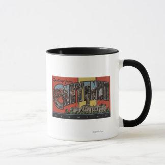 シャイエンヌ、ワイオミング-大きい手紙場面 マグカップ