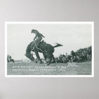 シャイエンヌFrotierの日にT.ジョーに乗っているニックの騎士 ポスター