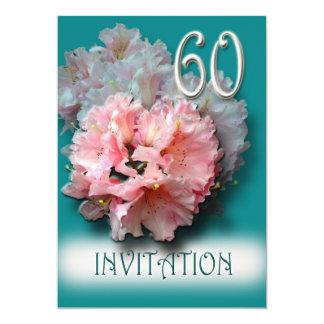 シャクナゲの第60誕生日のパーティの招待状 カード