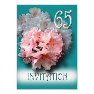 シャクナゲの第65誕生日のパーティの招待状 カード