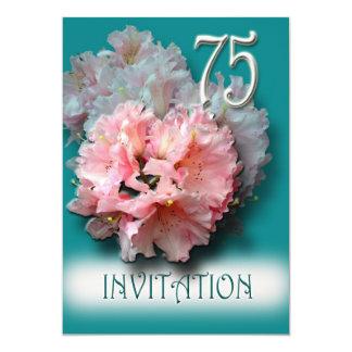 シャクナゲの第75誕生日のパーティの招待状 カード