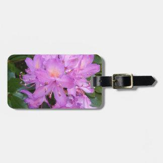 シャクナゲの花の荷物のラベル ラゲッジタグ