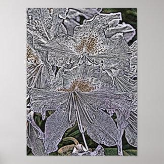 シャクナゲの花 ポスター