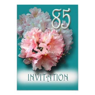 シャクナゲの85th誕生日のパーティの招待状 カード