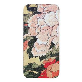 シャクヤクおよび蝶Hokusaiのiphone iPhone 5 Cover