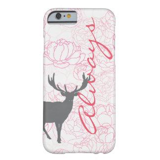 シャクヤクが付いている雄鹿の電話常に箱 BARELY THERE iPhone 6 ケース