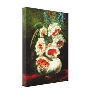 シャクヤクのキャンバスのプリントが付いているゴッホのつぼ キャンバスプリント