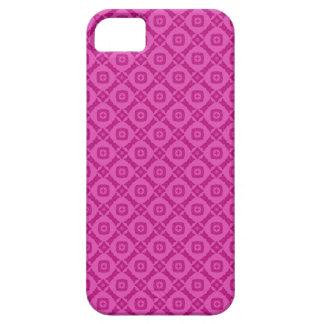 シャクヤクのピンクの正方形のダイヤモンドのレトロA019 iPhone SE/5/5s ケース
