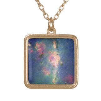 シャクヤクの星雲 ゴールドプレートネックレス