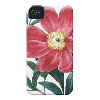 シャクヤクのRedouteの植物のイラストレーション Case-Mate iPhone 4 ケース