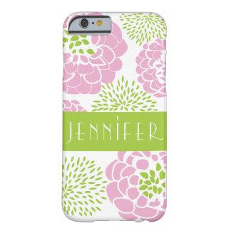 シャクヤク及びミイラの名前入りなSmartphoneのピンクの場合 Barely There iPhone 6 ケース