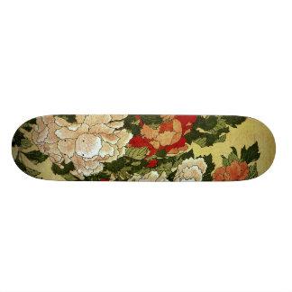 シャクヤク及び蝶Hokusaiの日本人のファインアート スケートボードデッキ