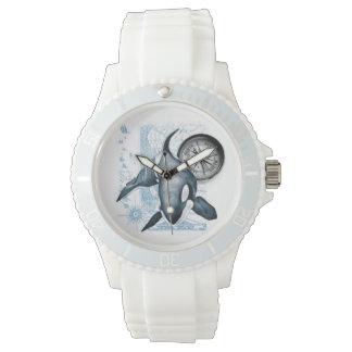 シャチのクジラのコンパス 腕時計