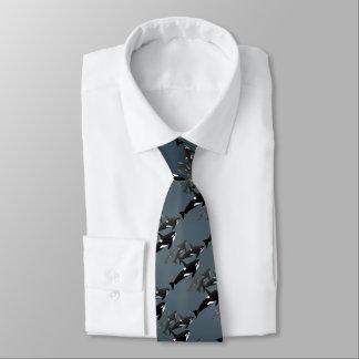 シャチのクジラのタイ及びギフトのシャチの野性生物のタイ オリジナルネクタイ