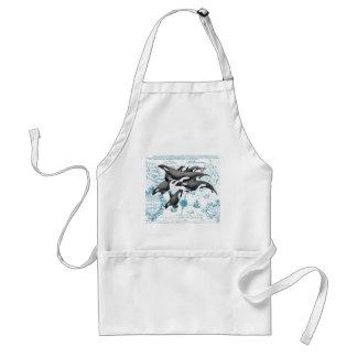 シャチのクジラの古代青 スタンダードエプロン