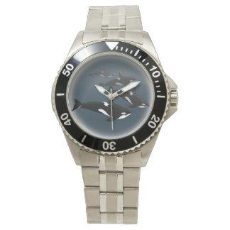 シャチのクジラの腕時計のシャチの芸術の腕時計 腕時計