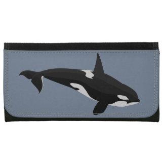 シャチのクジラの財布のシャチの芸術の財布のギフト レザーウォレット