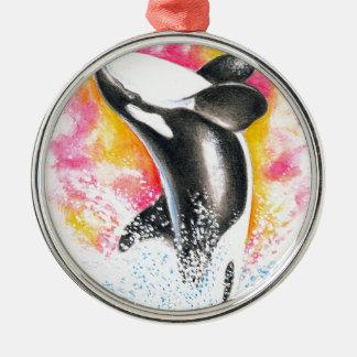 シャチのクジラ メタルオーナメント