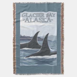 シャチのクジラ#1 -グレーシャー入江、アラスカ スローブランケット