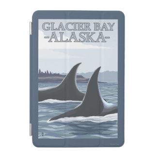 シャチのクジラ#1 -グレーシャー入江、アラスカ iPad MINIカバー