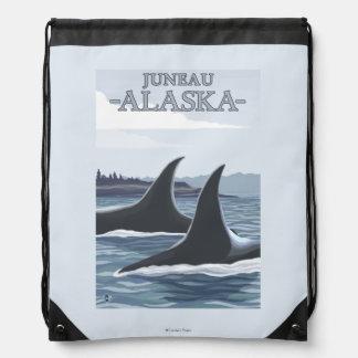 シャチのクジラ#1 -ジュノー、アラスカ ナップサック