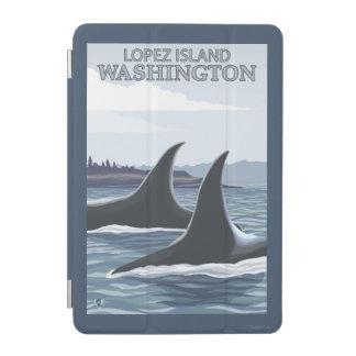 シャチのクジラ#1 -ローペッツ、ワシントン州 iPad MINIカバー