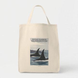 シャチのクジラ#1 -金曜日港、ワシントン州 トートバッグ