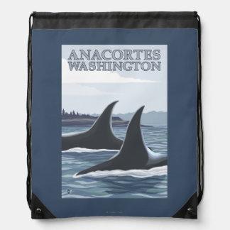 シャチのクジラ#1 - Anacortes、ワシントン州 ナップサック