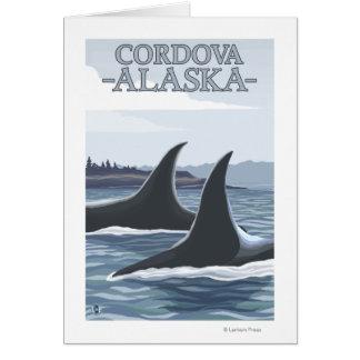 シャチのクジラ#1 - Cordova、アラスカ カード