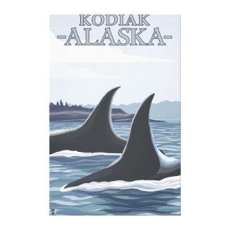 シャチのクジラ#1 - Kodiak、アラスカ キャンバスプリント