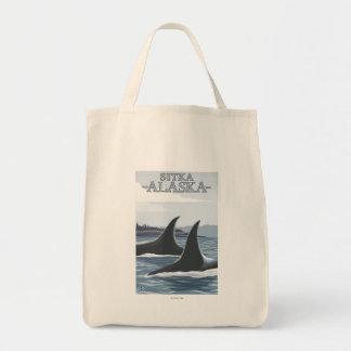 シャチのクジラ#1 - Sitka、アラスカ トートバッグ