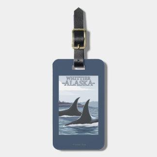 シャチのクジラ#1 - Whittier、アラスカ ラゲッジタグ