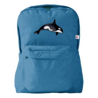 シャチのクジラ AMERICAN APPAREL™バックパック