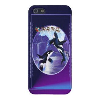 シャチのクリスマス iPhone SE/5/5sケース