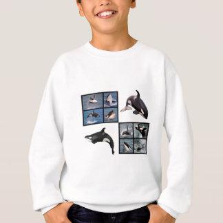 シャチの写真のモザイク スウェットシャツ