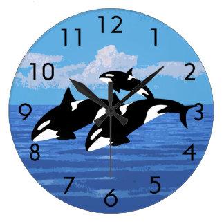 シャチの時計 ラージ壁時計