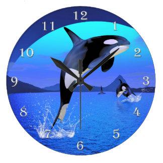 シャチの柱時計 ラージ壁時計