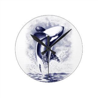 シャチの破ること ラウンド壁時計