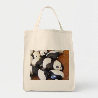 シャチの豆のオーガニックな買物客のトート トートバッグ