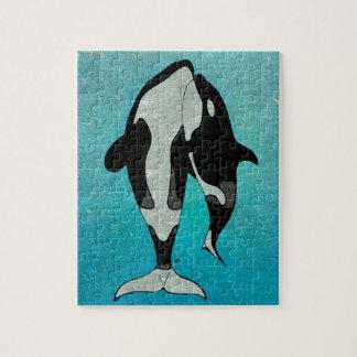 シャチの青 ジグソーパズル