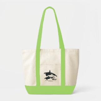 シャチ家族の衝動のバッグ トートバッグ