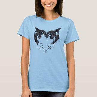 シャチ愛女性T Tシャツ