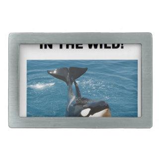 シャチ私達は野生のデザインで属します 長方形ベルトバックル