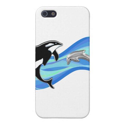 シャチ|イルカ|波 iPhone 5 CASE