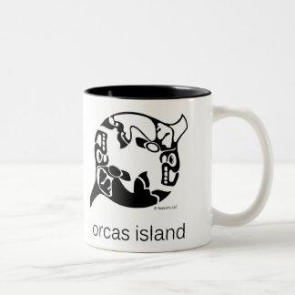 シャチ-シャチの島-タオの陰陽-シャチ ツートーンマグカップ