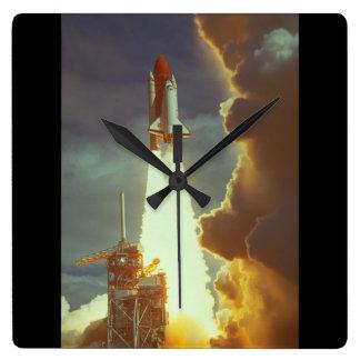 シャトルの進水。 (shuttle_Space スクエア壁時計