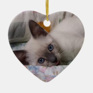 シャムの子ネコのオーナメント セラミックオーナメント
