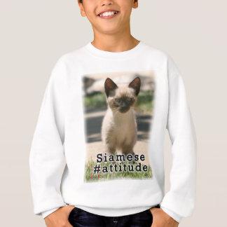 シャムの#Attitude スウェットシャツ
