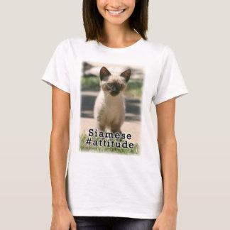 シャムの#Attitude Tシャツ